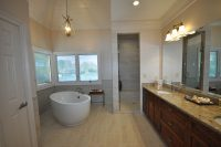 Alpharetta bathroom remodel with freestanding bathtub