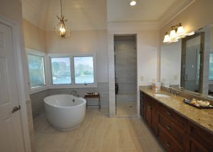 Alpharetta bathroom remodel with freestanding bathtub