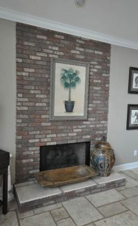 Brick Veneer Fireplace Surround