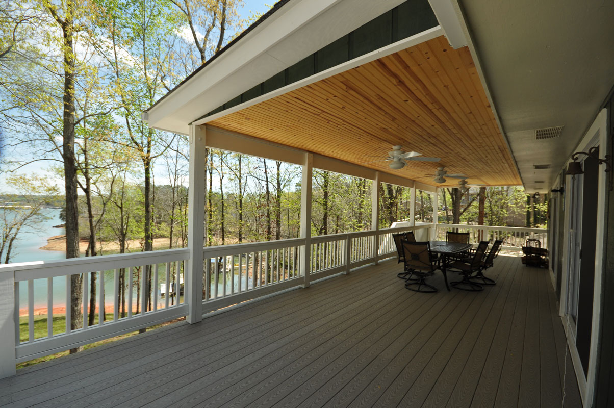 Two Story Covered Deck On Lake Lanier Taber Residential