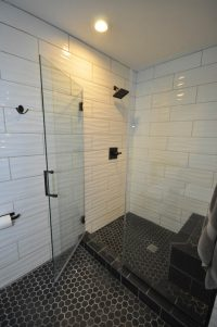 Custom shower with frameless glass