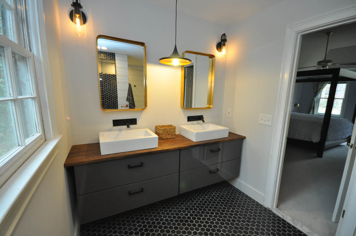 Master Bathroom Floating Vanity With