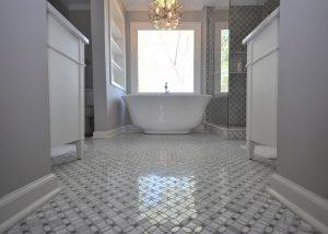 Master Bathroom with Freestanding Tub & Custom Shower