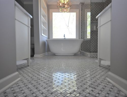 Master Bathroom with Freestanding Tub & Custom Shower