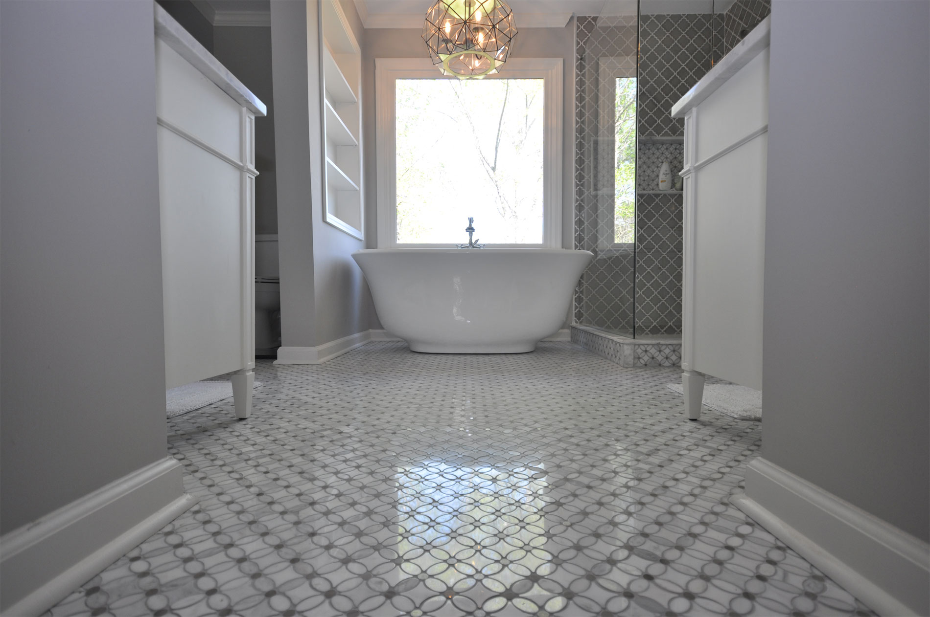 Master Bathroom With Freestanding Tub Amp Custom Shower