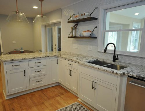 Roswell Kitchen with Open Shelving and Exotic Countertops