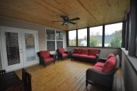 Screened Deck Addition with Beveled Pine Ceiling