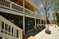 Two Story Covered Deck on Lake Lanier